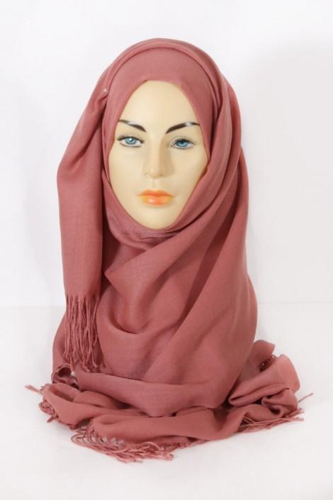Hijab Pashmina royal - Tons Rouge Orange - Abricot