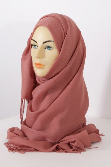 Hijab Pashmina royal - Tons Rouge Orange - Abricot pas cher & discount