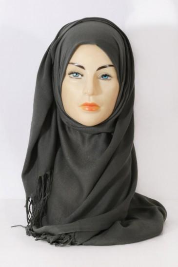 Hijab Pashmina royal - Tons Vert - Kaki pas cher & discount