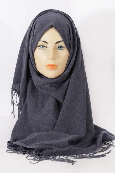 Hijab Pashmina Royal Gris chiné