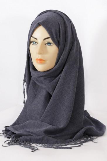 Hijab Pashmina Royal Gris chiné pas cher & discount