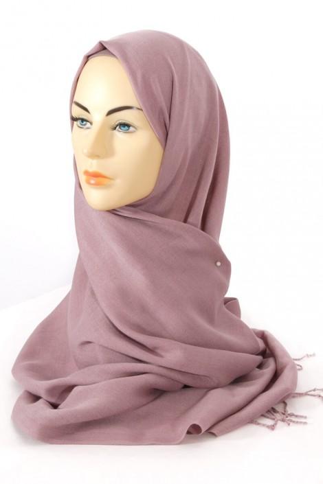 Hijab Pashmina Royal rose tourterelle