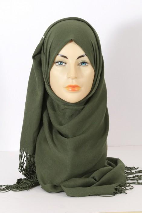 Hijab Pashmina Royal vert épinard