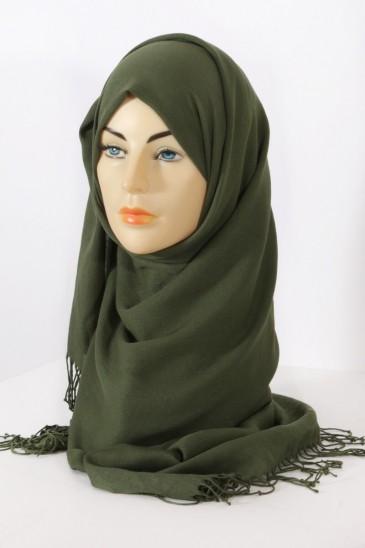 Hijab Pashmina Royal vert épinard pas cher & discount
