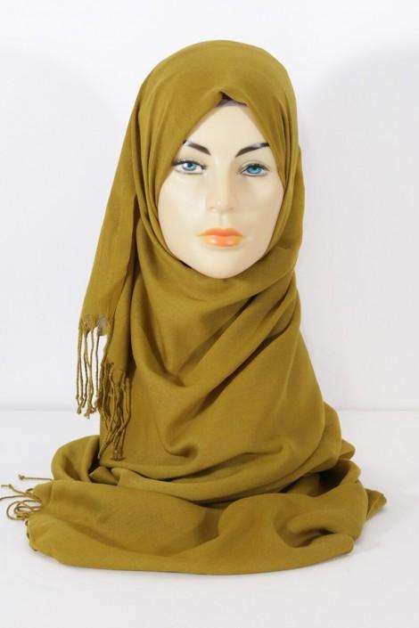 Hijab Pashmina Royal Vert Olive Vert Olive