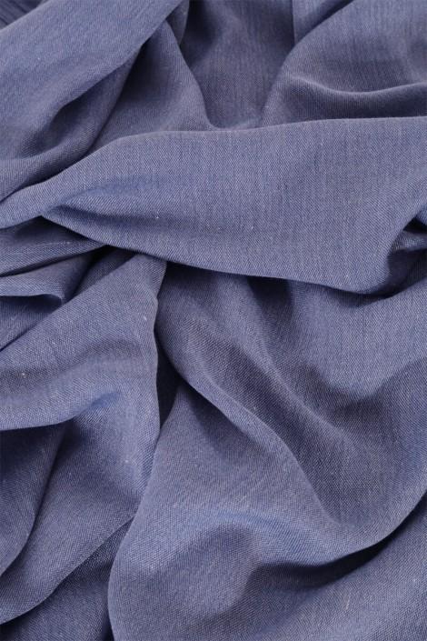 Hijab Pashmina royal - Tons Bleu - Bleu Jeans