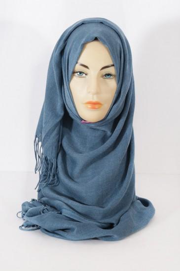 Hijab Pashmina royal- Bleu Océan pas cher & discount