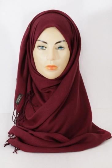 Hijab Pashmina royal- Grenat pas cher & discount