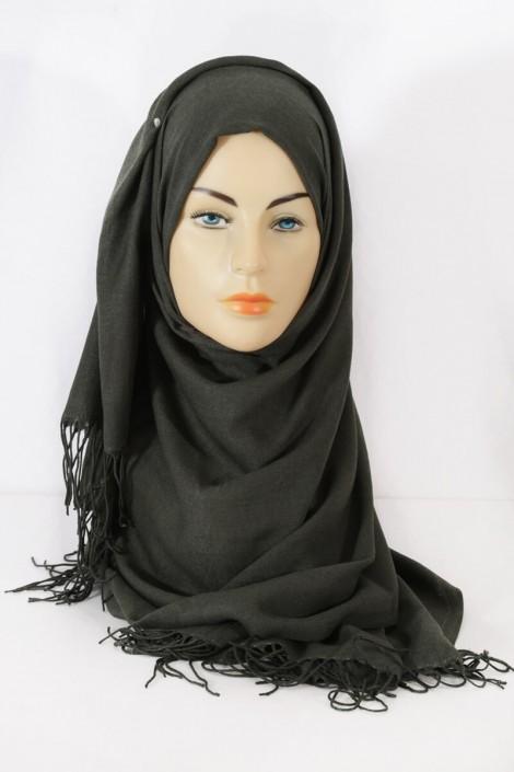 Hijab Pashmina royal- Kaki Foncé