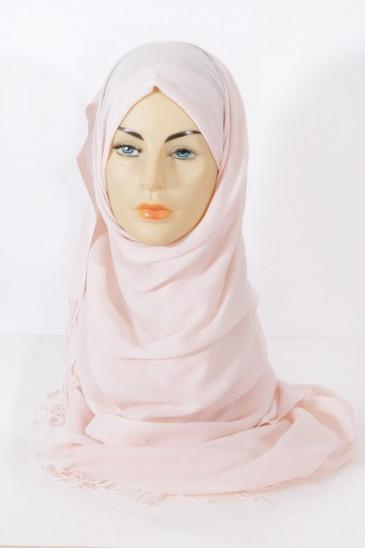 Hijab Pashmina royal- Nude pas cher & discount