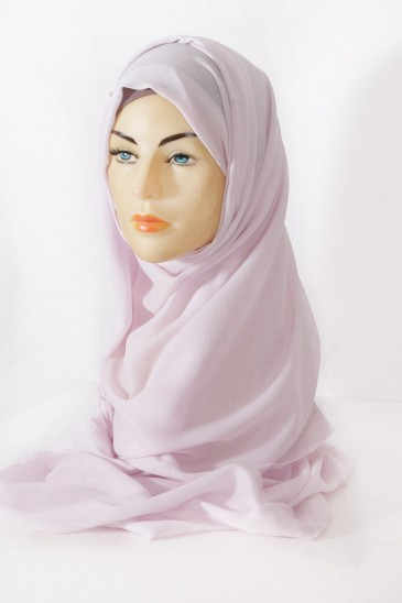 Hijab Pashmina royal- Rose pale pas cher & discount