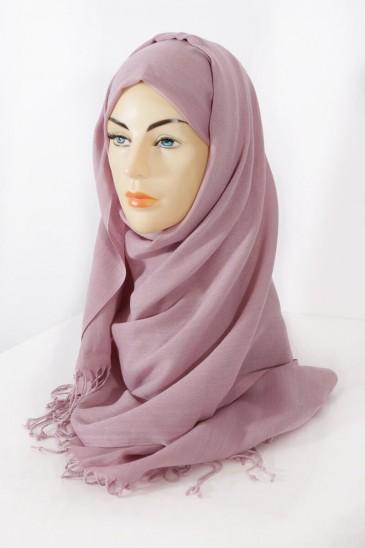 Hijab Pashmina royal- Rose parme pas cher & discount