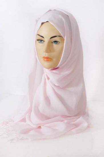 Hijab Pashmina royal- rose poudré Rose poudré pas cher & discount