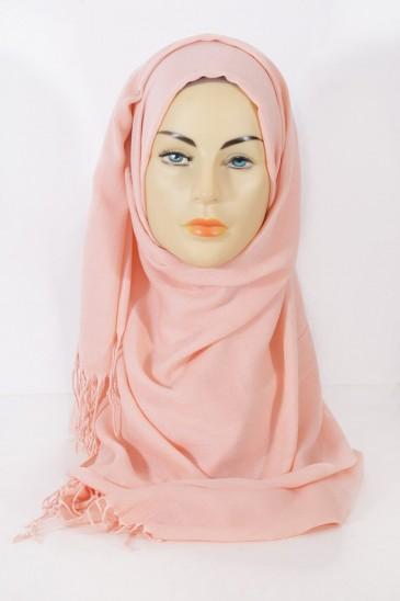 Hijab Pashmina royal- Saumon Clair pas cher & discount