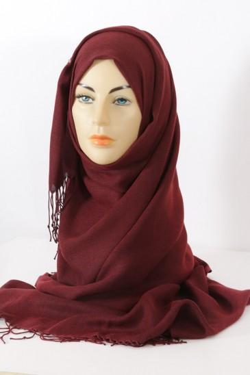 Hijab Pashmina royal- terre de sienne brulé pas cher & discount