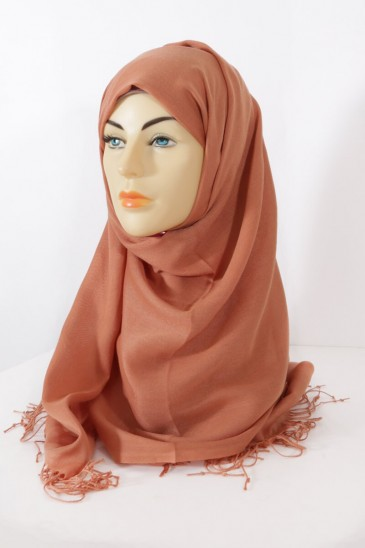 Hijab Pashmina royal- Terre ombre pas cher & discount