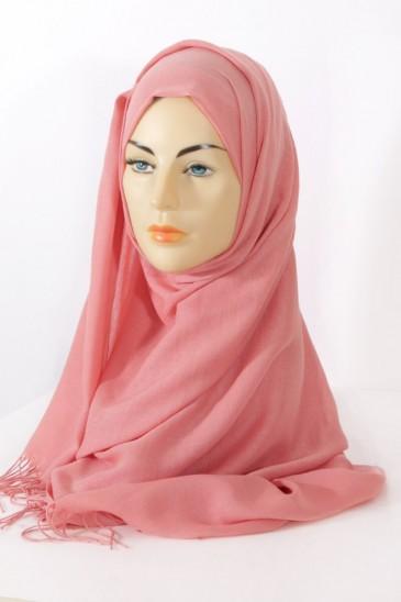 Hijab Pashmina royal-saumon foncé pas cher & discount