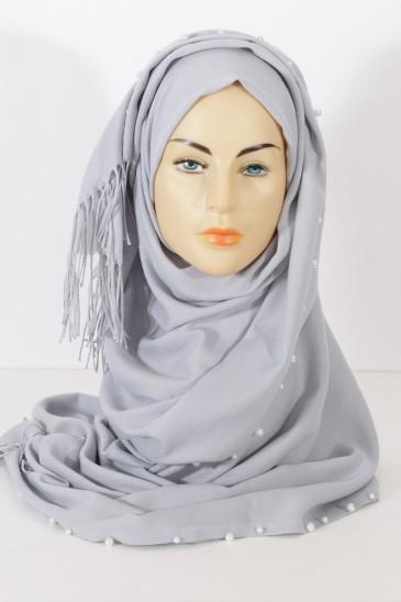 Hijab Pearl- Bleu Fumé pas cher & discount