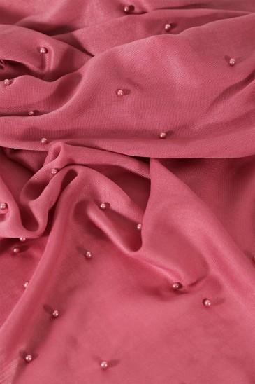 Hijab Pashmina Perle Rose balai pas cher & discount