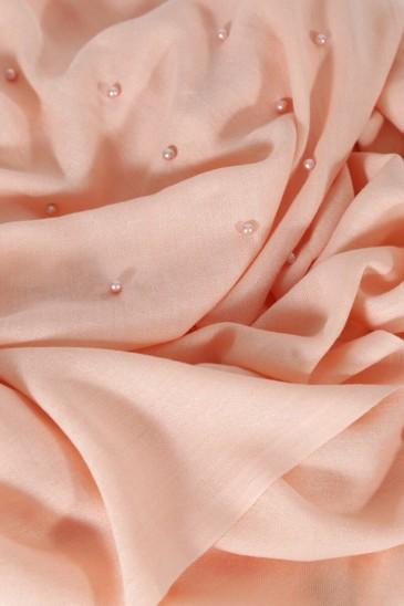 Hijab Pashmina Perle Rose Saumon pas cher & discount
