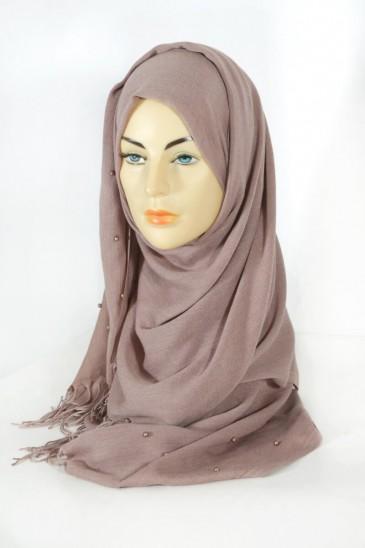Hijab Pashmina Perle Pralin pas cher & discount