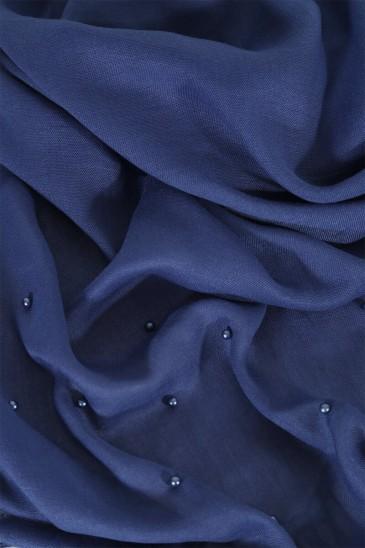 Hijab Pashmina perle - bleu roi pas cher & discount