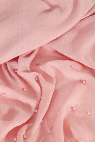 Hijab PASHMINA PERLE SAUMON FONCE pas cher & discount