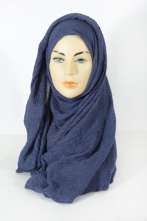 Hijab Gaufré Bleu