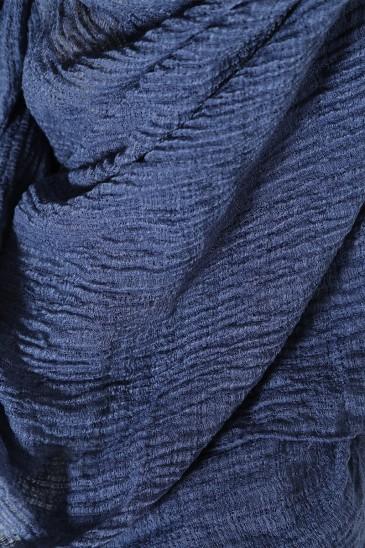 Hijab Gaufré Bleu pas cher & discount