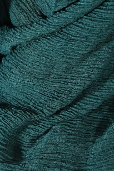 Hijab gaufré- bleu pétrole pas cher & discount