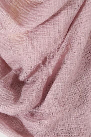 Hijab gaufré- Vieux rose pas cher & discount