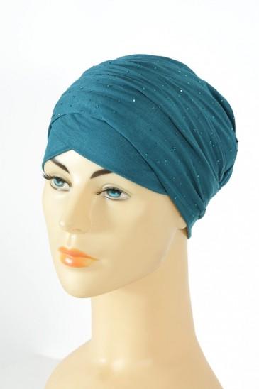 Turban minelli Bleu Canard pas cher & discount