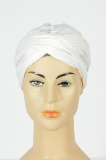 Turban alexia - Ecru pas cher & discount