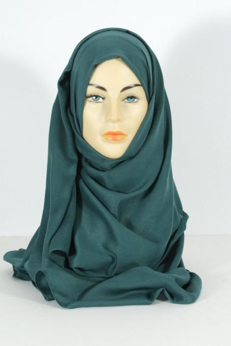 Hijab Pashmina maxi - Vert Canard
