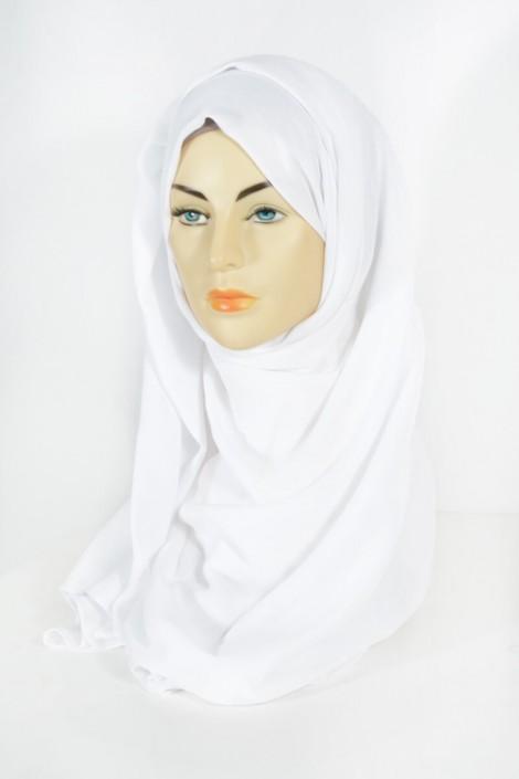 Hijab Pashmina Maxi Blanc