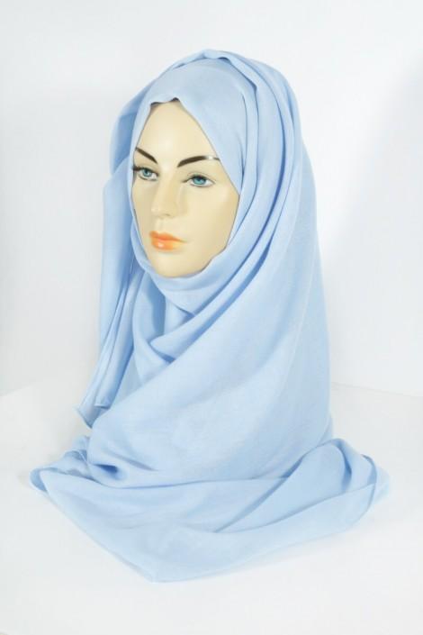 Hijab Pashmina Maxi bleu