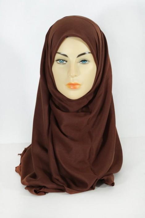 Hijab Pashmina Maxi Noisette