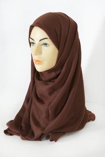 Hijab Pashmina Maxi Noisette pas cher & discount