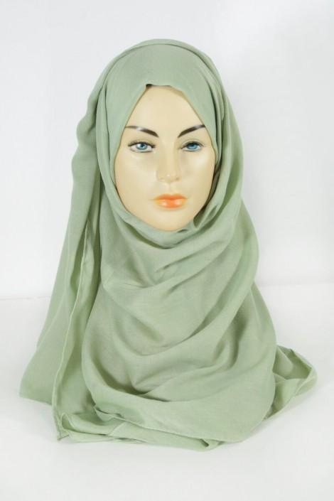 Hijab Pashmina Maxi Vert amande