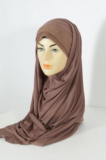 Hijeb Mervé - Prêt à enfiler - Marron pas cher & discount