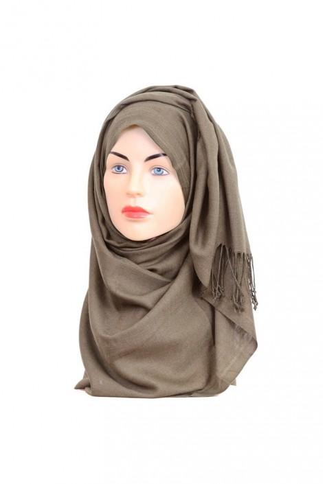 Hijab Pashmina Royal marron chiné