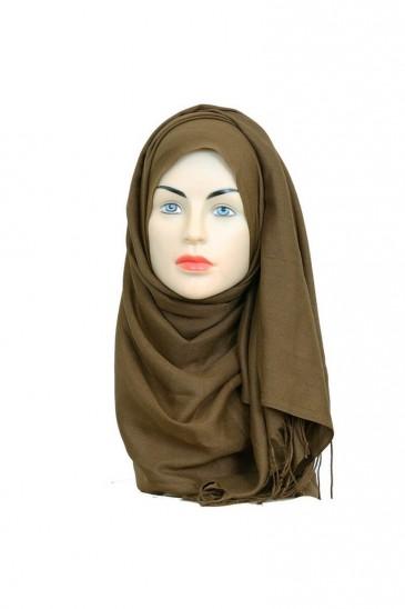 Hijab Pashmina Royal noisette pas cher & discount