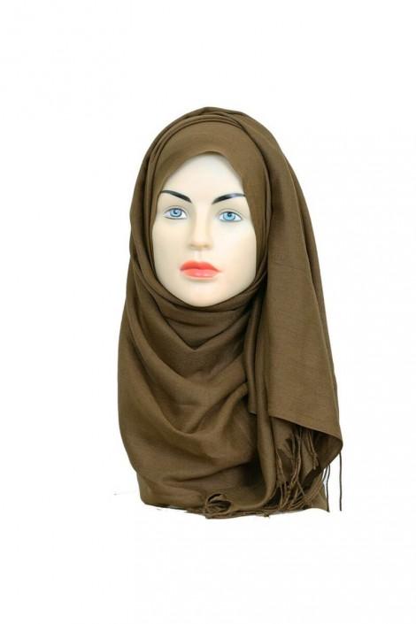 Hijab Pashmina Royal noisette
