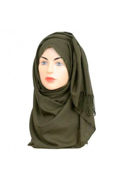 Hijab Pashmina Royal Kaki