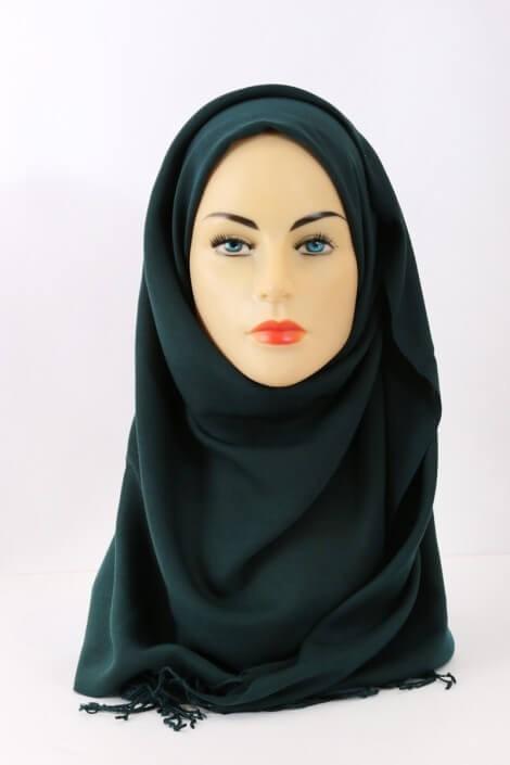 Hijab Pashmina Royal vert canard