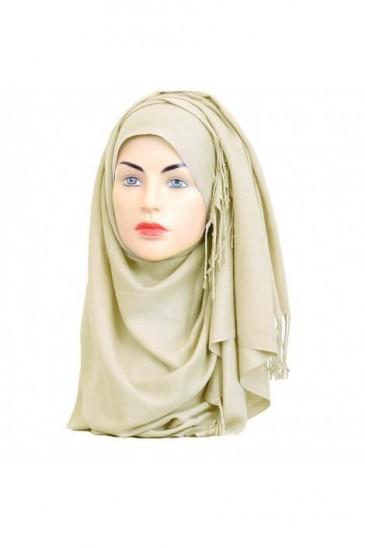 Hijab Pashmina Royal ecru pas cher & discount