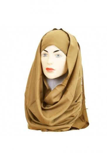 Hijab Pashmina Royal champagne pas cher & discount