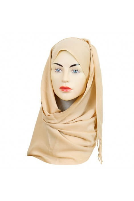 Hijab Pashmina Royal chair-beige