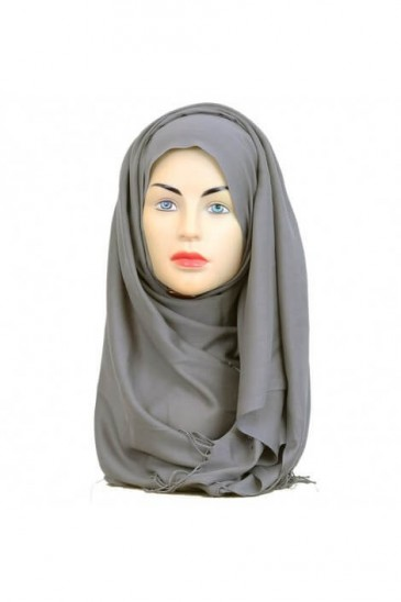 Hijab Pashmina Royal gris pas cher & discount