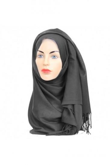 Hijab Pashmina Royal gris sombre pas cher & discount